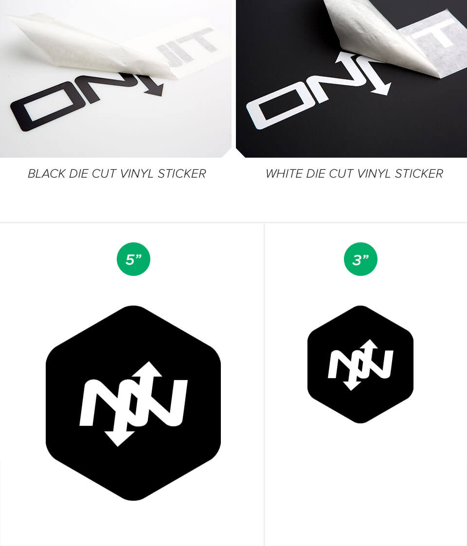 Hex Logo Die Cut Vinyl Stickers Onnit - Die cut vinyl stickers